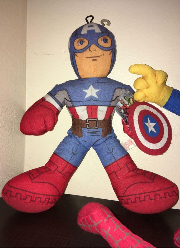 4x avengers plush LOT toy