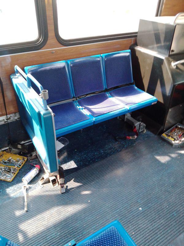Transit bus seats