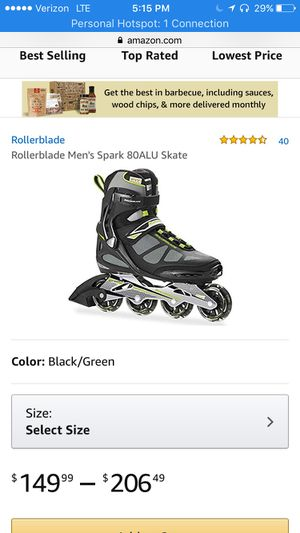 ROLLERBLADES!! Used once !! US size8/ fits up to 9 for Sale in Dallas, TX