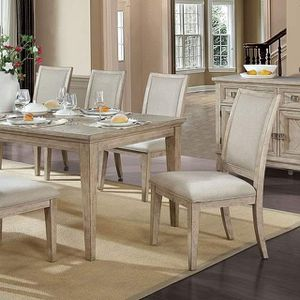 NATURAL TONE 7 PIECE DINING TABLE SET LEAF / COMEDOR MESA 6 SILLAS for Sale in Pico Rivera, CA
