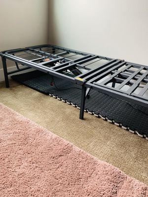 Twin bed frame & it's like new .. & folds $60 for Sale in Kirkland, WA