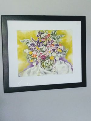 Framed,matted picture of Colorful Flower for Sale in Richmond, KY