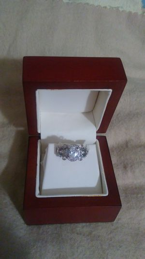 Silver plated cubic zirconia ring. Size 7 for Sale in Richardson, TX