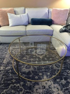 Mid-Century Modern Glass/Gold Finish Coffee Table for Sale in Walnut Creek, CA
