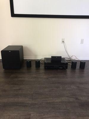 Klipsch Home Theater Surround Sound System + Receiver + Subwoofer for Sale in San Diego, CA