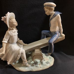 """Lladro See-Saw, Glazed Finish, Approx 10"""" Wide, Negotiable for Sale in Crystal Lake, IL"""