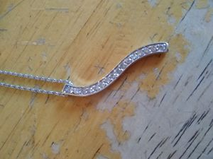 .925 Sterling Silver necklace with cz pendant for Sale in Woodburn, OR