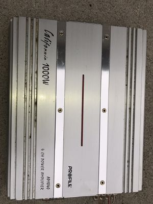 California 1000w 4ch amplifier for Sale in Blacklick, OH