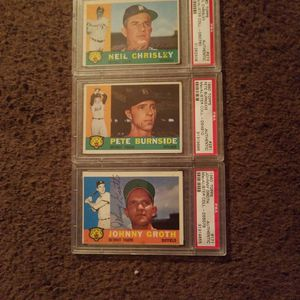 3 1960 Autographed Topps Baseball Card's for Sale in Columbus, OH