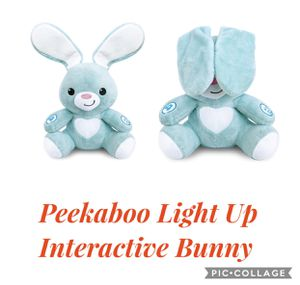 Peekaboo Light Up Interactive Bunny - Soft Stuffed Animal Toy is 13 inches Tall - for Ages 6 Months and Up for Sale in Irwindale, CA