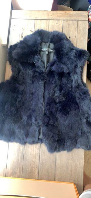 Adrienne Landau M rabbit fur navy vest for Sale in Irvine, CA