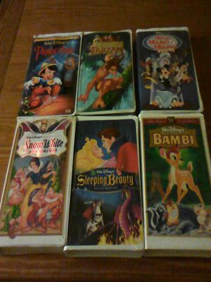 Disney classic collectibles 6 vhs tapes for 40 00 good condition firm on asking price to sell for for Sale in Silver Spring, MD