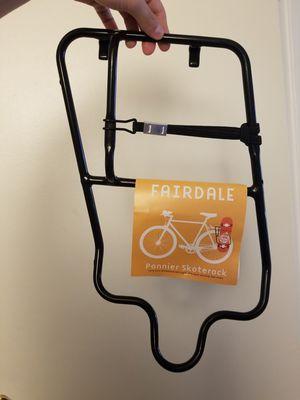 Fairdale pannier skate rack skateboard holder for bike for Sale in Gainesville, FL