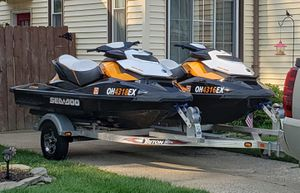 2012 SeaDoo GTR 215 - 2 Jet Skis + Trailer for Sale in Parma, OH