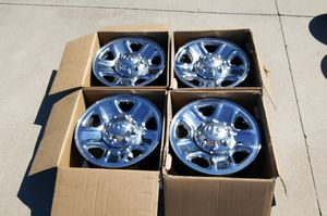 "18"" Dodge Ram 2500 3500 rims wheels 8-lug 8x6.5 8x165.1 OEM chrome stock factory set no tires truck for Sale in Commerce City, CO"