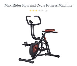 Max Rider Row and Cycle Fitness Machine Brand New! for Sale in Bryn Mawr, PA