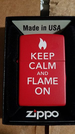 Zippo keep calm red matte 28671 for Sale in Los Angeles, CA