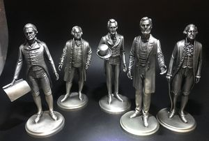 FIVE PRESIDENTS FROM A VERY RARE SET OF THE AMERICAN LANCE PEWTER PRESIDENT COLLECTION for Sale in Scottsdale, AZ