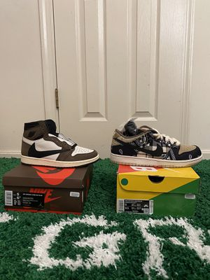 NEW NIKE AIR JORDAN 1 RETRO TRAVIS / NIKE SB TRAVIS LOW for Sale in Fort Washington, MD