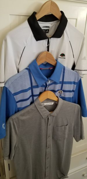 Mens polo golf tennis athetic ss shirts adidas travis matthew ashworth for Sale in San Diego, CA