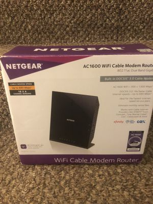 WiFi cable modem router by Netgear AC 1600 for Sale in Pompano Beach, FL