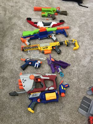 Elite,mega nerf guns with Eye protection for Sale in Oregon House, CA