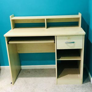 Light Colored Wooden Desk for Sale in Seymour, CT