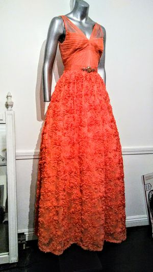 "Vintage 50' "" Grease"" Prom Gown ""Tangerine"" tulle floral dress size10 , Clean for Sale in Whittier, CA"