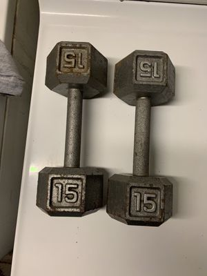 Pair (2) 15 pound dumbbells for $70 for Sale in Clifton, NJ
