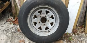 Tire on galvanized rim st175/80d13 not great but holds air for Sale in Hillsboro Beach, FL
