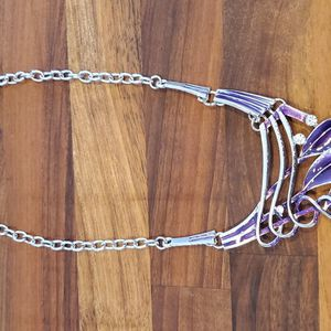 Purple & Silver Statement Piece Necklace for Sale in Bloomington, IL