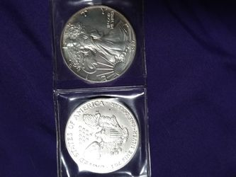 1987 American Silver Eagle .999 Fine Silver with Our Certificate of Authenticity Dollar for Sale in Gaffney,  SC