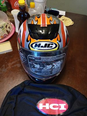 HJC Motorcycle helmet. Excellent condition. Size medium. DOT/Snell approved. 75.00 for Sale in Bluewell, WV