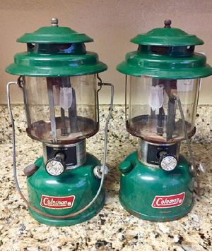 2 Vintage Coleman Lanterns #220k And 220J / camping / fishing / hunting / hiking Price is for both for Sale in Wylie, TX
