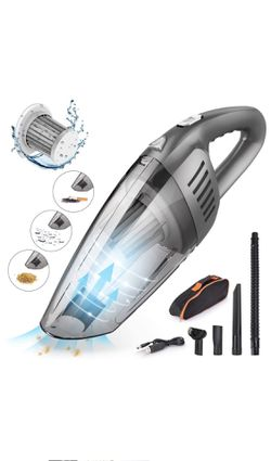 Handheld Car Vacuum Cleaner Cordless with 120W High Power,7000PA USB Charging Portable Auto Vacuum,Strong Aluminum Fan, HEPA Filter,Carry Bag, Wet/Dr for Sale in Chino,  CA