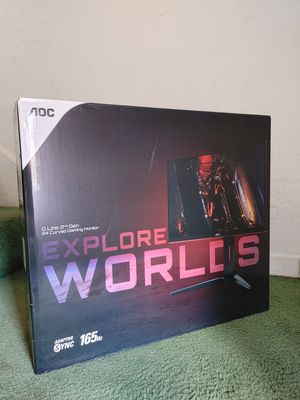 Curved Monitor AOC pro Gaming 165hz for Sale in Los Angeles, CA