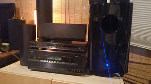 Onkyo receiver and 5.1 speakers for Sale in Milpitas, CA