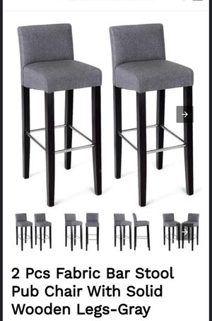 Bar Stool Pub Chair With Solid Wooden Legs for Sale in Rancho Cucamonga, CA