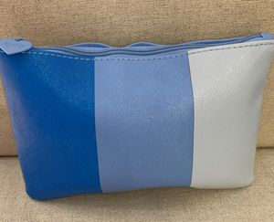New- IPSY Cosmetic/Accessories Beauty Case-Color/Pacific Blue, Blue Violet & Blanched Almond with Blue Violet Zipper & Heart Charm for Sale in Yucaipa, CA