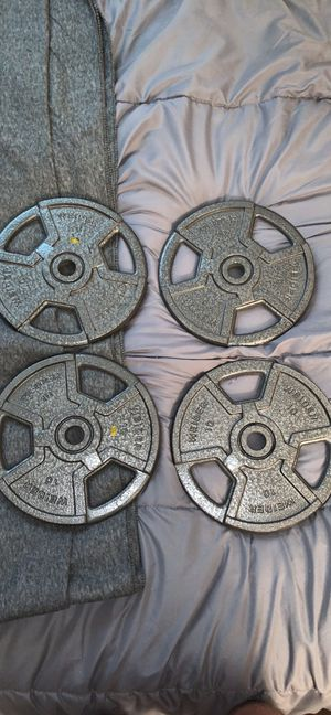 10 pound weight plates (4) Weider for Sale in Sylvania, OH