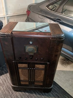 Antique radio turned into a bar cart for Sale in Huntington Beach, CA
