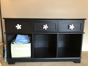 Baby changing table with cubbies for Sale in Denver, CO