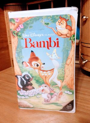 Disney's Bambi Black Diamond VHS VCR Clamshell Movie for Sale in Modesto, CA