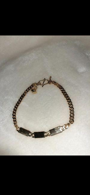 18k real gold bracelet for Sale in Los Angeles, CA