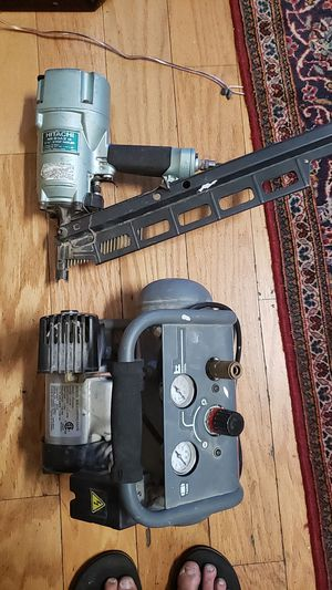 Compressor and nail gun for Sale in Long Beach, CA