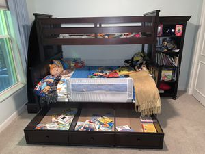 Bunk Bed - Twin over full - $2600 Retail - trundle, staircase and detachable for Sale in Boca Raton, FL