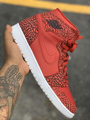 Sz 13 Air Jordan 1 Red Elephant print for Sale in North Miami, FL
