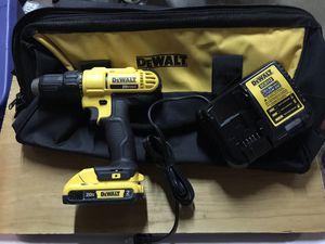 DeWalt Drill 20v , DeWalt Bag , Charger All New!!!1 used battery for Sale in Bloomington, CA