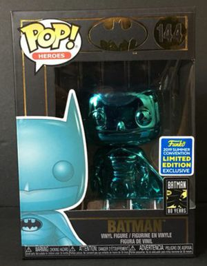 """DC """"Teal Chrome Batman"""" San Diego Comic Con Game Stop Exclusive Funko Pop for Sale in Los Angeles, CA"""