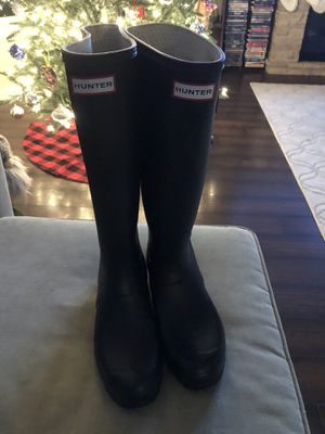 Hunter Rain/snow Boots black TALL for Sale in Louisville, KY